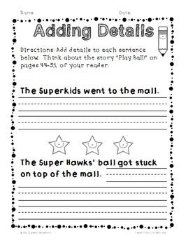 Superkids Writing and Center Materials:  First Grade, Level 4, Unit 4