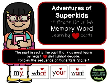 SuperKids Memory Word Heart Part Unit 1-8