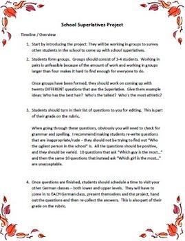 Superlativ: School Year Book Project