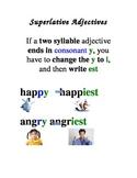 ESL/ELD Superlative Adjective Posters