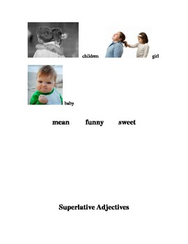 ESL/ELD Superlative Adjective Work Posters