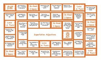Superlative Adjectives Board Game