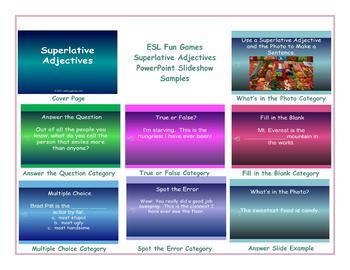 Superlative Adjectives PowerPoint Slideshow