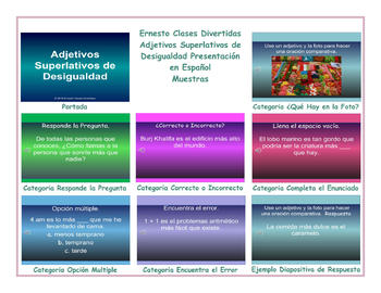 Superlative Adjectives Spanish PowerPoint Presentation