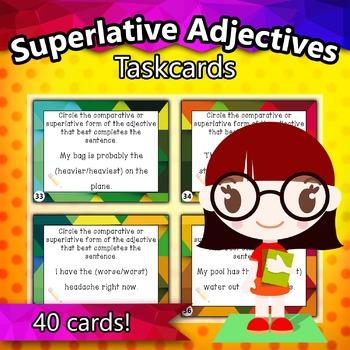 Superlative Adjectives Taskcards