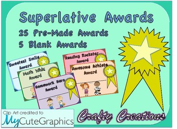 Superlative Awards: 25 Pre-Made Awards + 5 Blank Awards