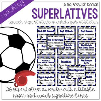 Soccer Superlative Awards - Royal Blue