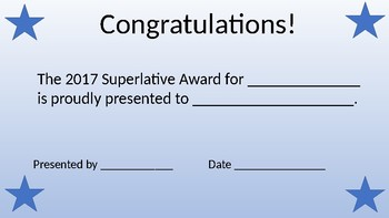 superlative certificate superlative certificate