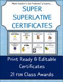 "Classroom Awards :Superlative Certificates ""Perfect for Mi"