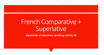 Superlative Speaking Activity : Superlative of Adjectives