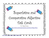Superlative and Comparative Adjective Task Cards