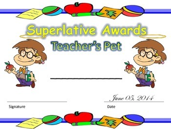 Superlatives End of the Year Awards