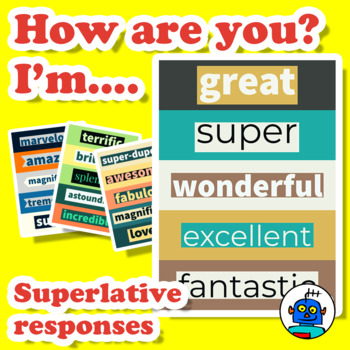 Superlatives Word Wall Display. How are you? I'm...