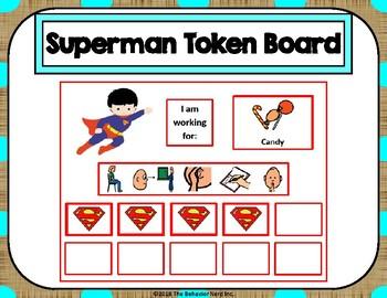 Superman 10 Token Board with Behavior Visuals