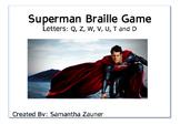 Superman Braille File Folder Game