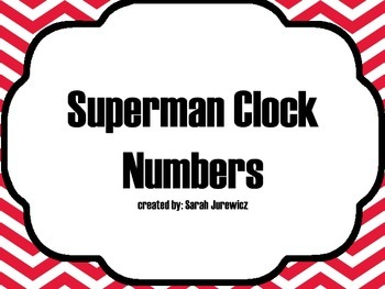 Superman Clock Numbers