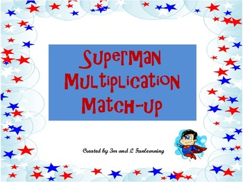 Superman Multiplication Match-Up