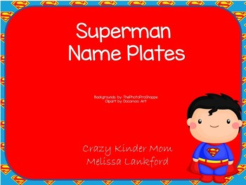 Superman Name Plates
