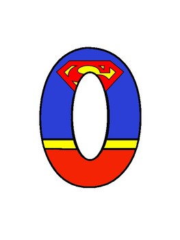 Superman Number And Letter Pack By The Teacher Dude Tpt