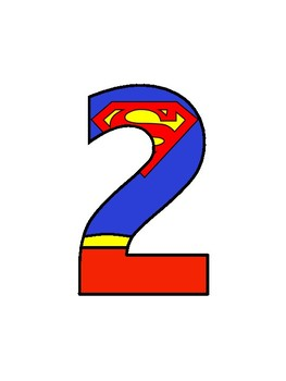 Superman Number and Letter Pack