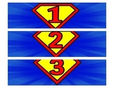 Superman Numbers 1-36 Box Labels