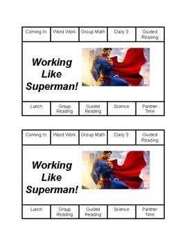Superman Punch Chart