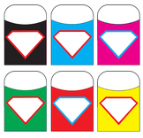 Superman Shield Library Pockets Assorted Colors
