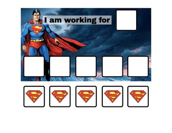 Superman Token Board - 2 options!