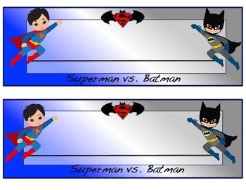 Superman Vs. Batman Desk Name Plates