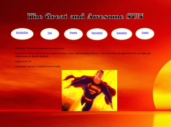 Superman Webquest- Learn about the SUN!!