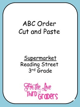 Supermarket ABC Order Cut and Paste