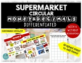 DIFFERENTIATED Supermarket Circular Math: Money/Decimals