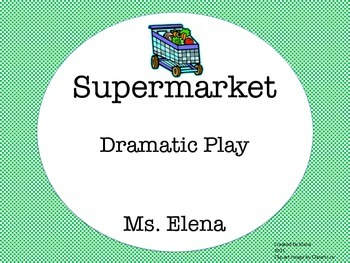 Supermarket Dramatic Play Center