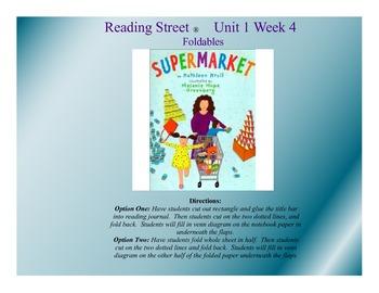 """Supermarket"" Reading Street® Unit 1 Week 4 Foldables"