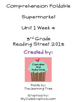 Supermarket Reading Street Unit 1 Week 4 Foldable