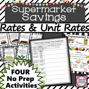 Rates and Unit Rates Center Activities