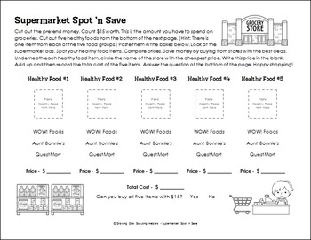 """Supermarket Spot 'n Save - Girl Scout Brownies - """"Money Manager"""" Pack (Step 2)"""