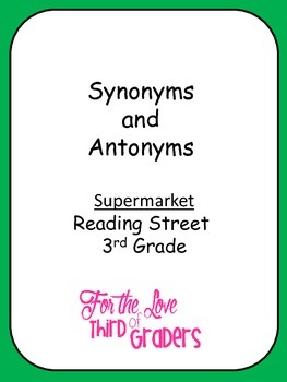 Supermarket Synonyms and Antonyms with Vocabulary Words