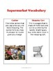 Grocery Store Vocabulary and Worksheets for Special Education