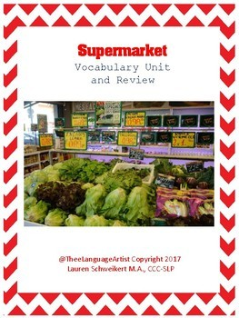 Life Skills No Prep: Grocery Store Vocabulary and Review
