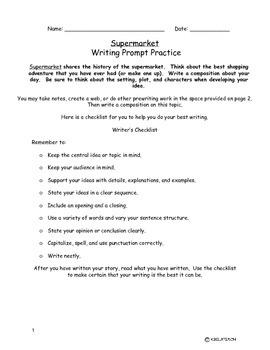 Supermarket Writing Task
