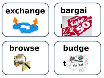 Supermarket amazing and vocabulary word cards