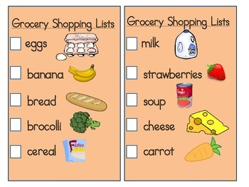 Supermarket-grocery dramatic play props