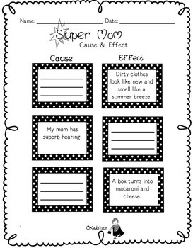 Supermom Mother's Day Fluency Passage and Comprehension Activities