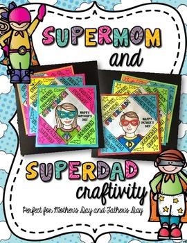 Supermom and Superdad Craftivity