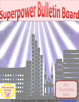 Superpower Bulletin Board Worksheets & Teaching Resources   TpT
