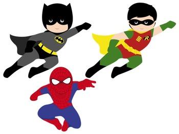 Bulletin Board Set: Superhero Themed