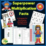 **Fall Discount** Superpower Multiplication Facts - Complete Unit for Fluency
