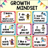 Growth Mindset Bulletin Board & Posters: Superhero Theme {Free Classroom Decor!}