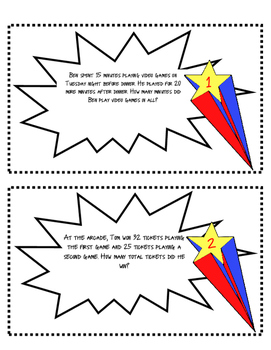 Superpower Problem Solving Task Cards
